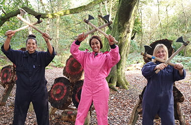 Axe Throwing for Hens at Adventure Now Manchester