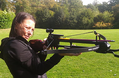 Crossbow for Hens at Adventure Now Sheffield