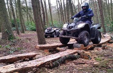 Outdoor Quad Bike obstacle course in Manchester with Adventure Now