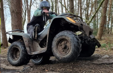 Forest Quad Biking session in Manchester with Adventure Now