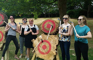 Axe Throwing Hen Party at Adventure Now Sheffield