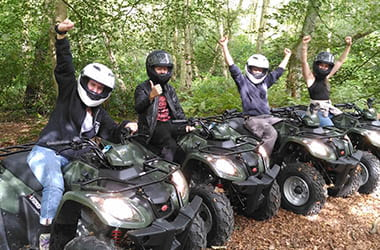Quad Combo Package at Adventure Now Manchester